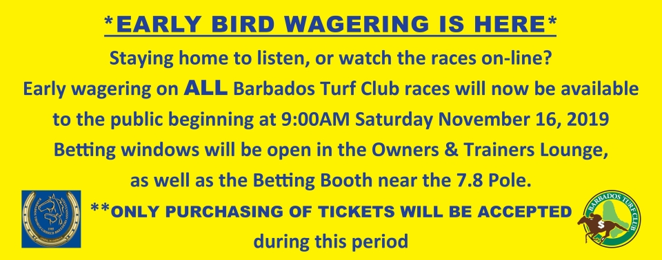 EARLY WAGERING AT THE GARRISON SAVANNAH